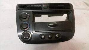 Radio Dash + Console Carbone Honda Civic 2001-2005