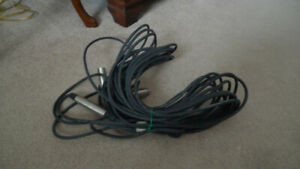 2 Microphone Cables High Quality 21ft.Mic cord Made in USA .