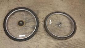 """26"""" cycle wheels with tubes and tyres"""