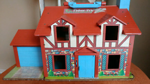 Vintage Fisher Price Play Family House Farm