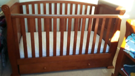 Sleigh Cotbed & Changing Table. MUST SELL! (Babies R Us - Exc Cond)