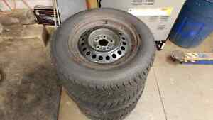 Kankook winter on rims 205/65r15 Kitchener / Waterloo Kitchener Area image 1