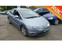 2007 Honda Civic Hatch 5Dr 1.8i-VTEC 140 SE Auto6 Petrol blue Automatic