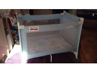 Gorgeous Blue / Multi coloured Graco Travel Cot