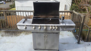 Stainles  Steel BBQ with side Grill and Rotisserie