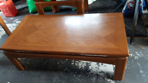 Indonesian Teak Coffee Table and 1 End Table
