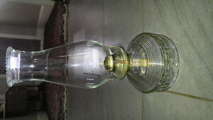 Vintage glass oil lamp