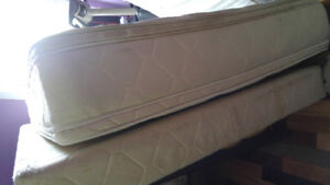 Double king coil mattress and box spring