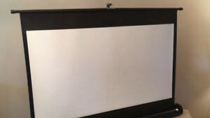 Good Working Portable 55 Inch Movie Screen SEE VIDEO