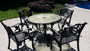 Solid Cast Iron Patio Set