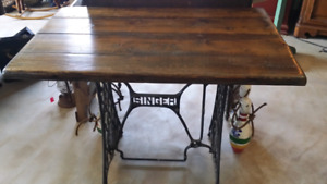 Sewing table up cycled