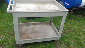 large 2 tier plastic cart on wheels Very sturdy!!!