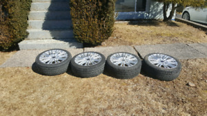"18"" wheel set and 2 tire(225 40 18)"