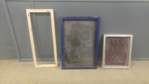 Canvas stretchers and silk screens