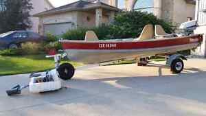 Naden 14', trailer, cover, 2 engines and more