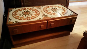 Wooden TV stand with tiles for sale