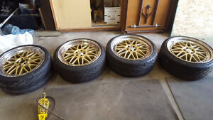 Rial Daytona 19 Inch 5x100 Gold 2 Piece Rims *Price Reduced*