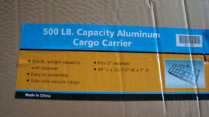 trailer hitch aluminum cargo carrier new in box