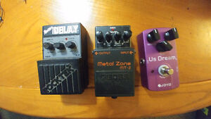 80's dark analog delay, high gain marshal pedal and metal pedal