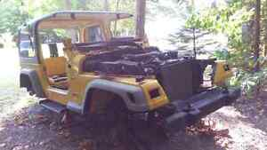 1999 Jeep For Parts Only Hard Top TJ 2000 4.0 L