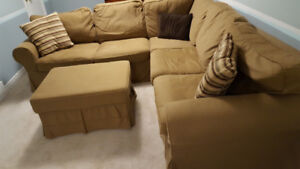 Ikea Sectional with Ottoman