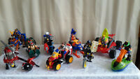 Rescue Hero Figurines with vehicles $6 to $10