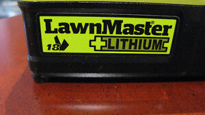 """Battery and charger for LawnMaster (10"""") grass trimmer ."""