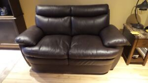 New Leather Love Seat
