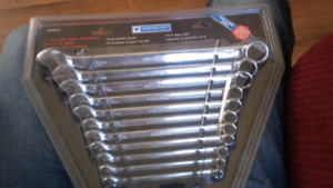 Two sets of factory sealed mastercraft  metric and SAE wrench