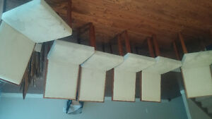Solid Teak Wood dining table set 6 chairs London Ontario image 3