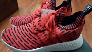 Adidas NMD R2 Red Prime Knit Size 9