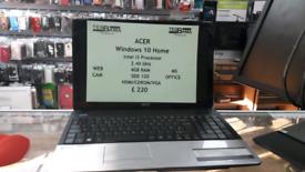 ACER LAPTOP/i3 processor/4GB RAM/SSD 120