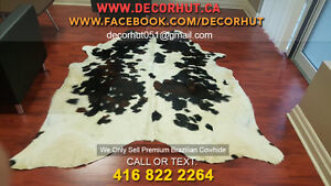 Soft to Touch Natural Shades Cowhide Rug Imported Brazilian West Island Greater Montréal image 2