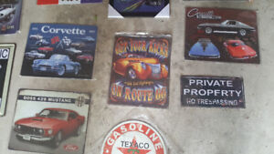 Metal signs garage man cave ect