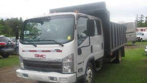 rare crew cab dump truck