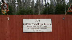 Red Woof Inn Doggie Daycare.