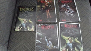 Grimm Fairy Tales The Piper. 1 illustrated book & 4 comics
