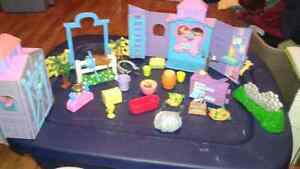 Polly pocket horse set and other