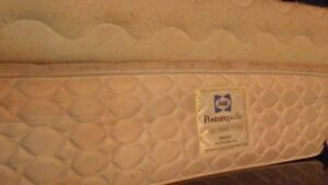 """54""""double size mattress and boxspring  sixty dollars (delivery)"""