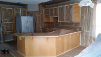 Spray finish Lacquer Kitchen cabinet refinishing