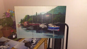 Vintage boats painting calls only293-7206