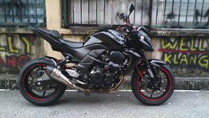 2005 Kawasaki Z750 Black