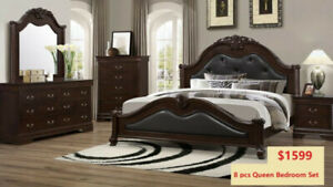 8 PC BEDROOM SET STARTING 999