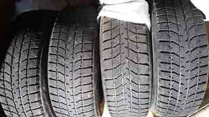 4 winter tires on rims 5 bolt 195/65R 15