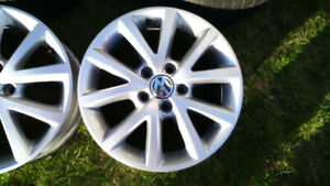 16 inch VW alloy rims and tires