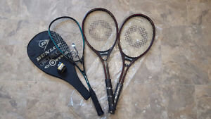 1 Squash and 2 Tennis Raquets for Sale