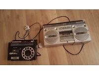 2 radio cassette players