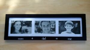 Mom + Dad = Me Picture Frame