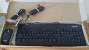 Microsoft corded keyboard and mouse
