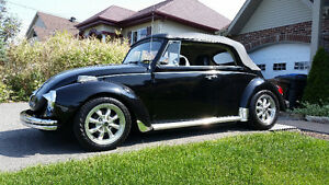 VW Beetle 1975 convertible 10,995$ nego. faite ue offre